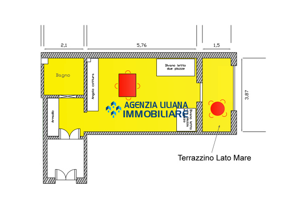 Monolocale vista mare - Zona centrale-S. Maria al Bagno-Nardò-012